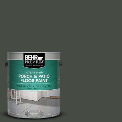 1 gal. #710F-7 Black Swan Gloss Interior/Exterior Porch and Patio Floor Paint