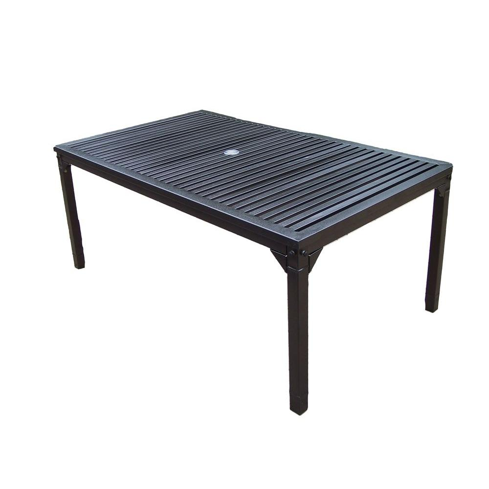 Oakland living rochester 67 in x 40 in patio dining for Dining room tables home depot