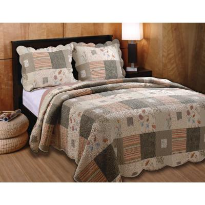 Sedona 3-Piece Multicolored Full and Queen Quilt Set