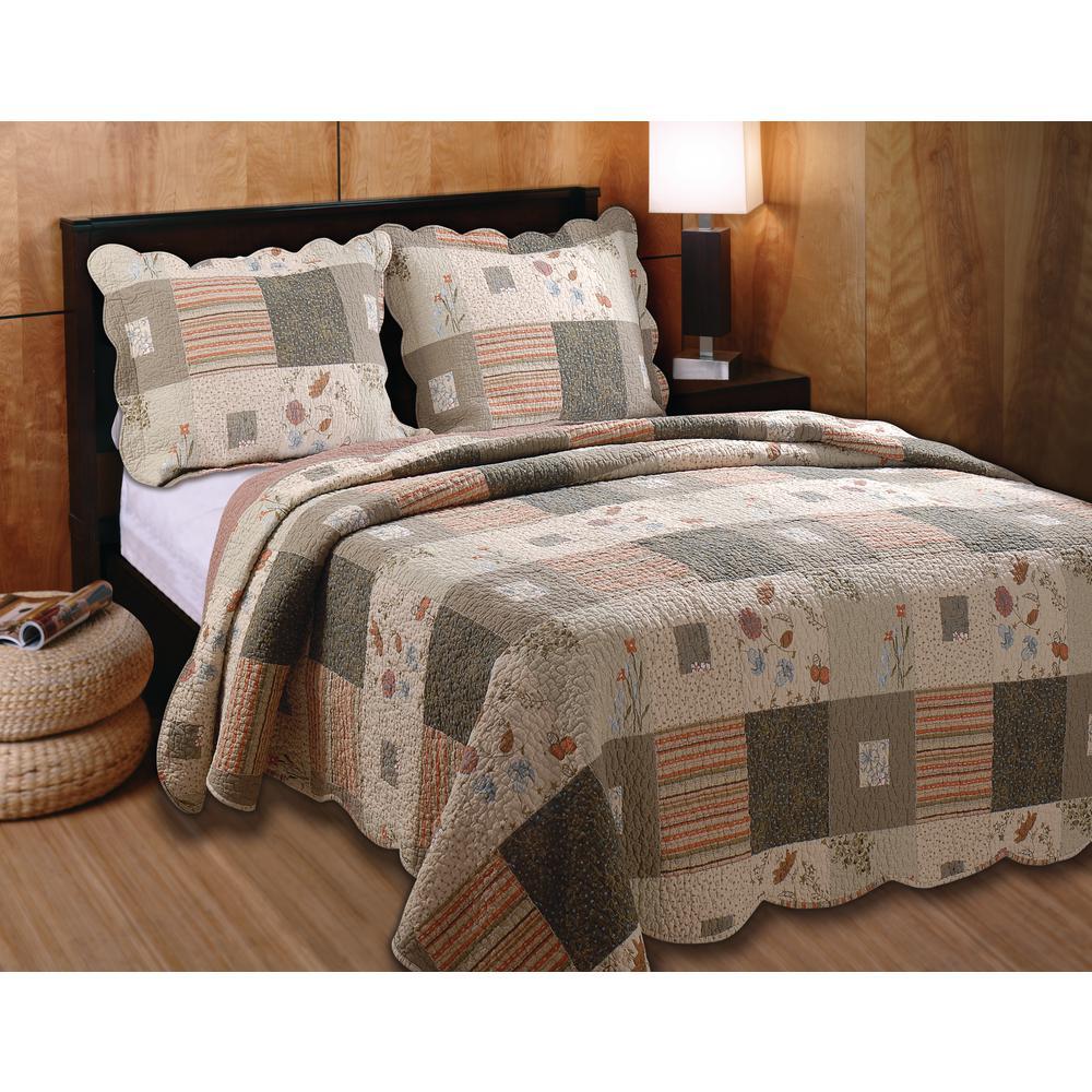 Sedona 3-Piece Multi Full and Queen Quilt Set