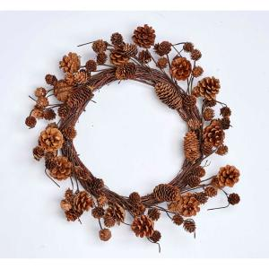 19 in. Mixed Pine Cone Wreath