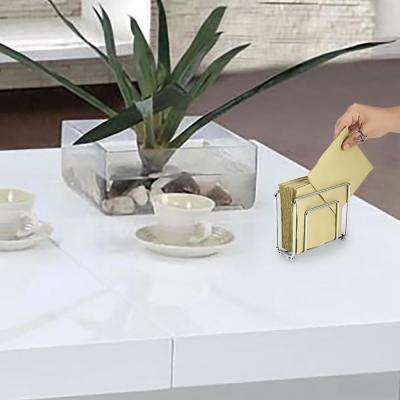 Freestanding Stainless Steel Silver Decorative Napkin Holder