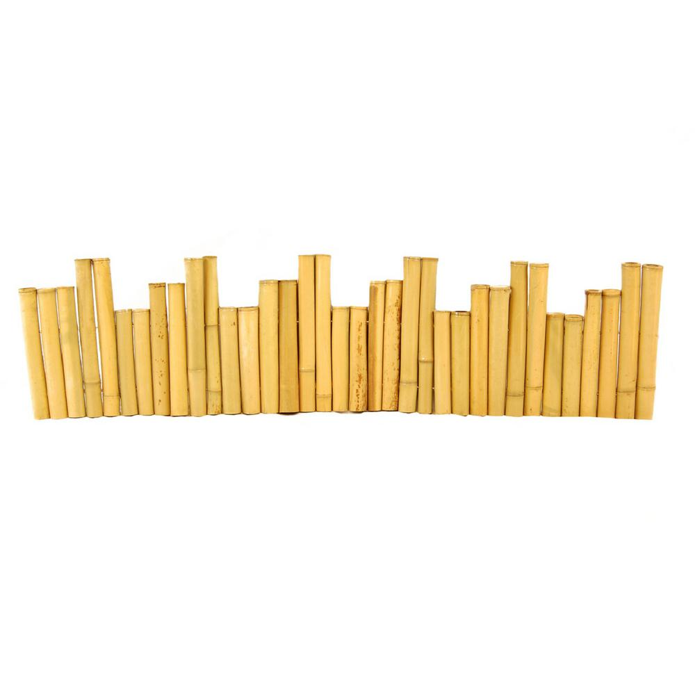 Backyard X-Scapes Backyard X-Scapes 96 in. L x 1.25 in. W x 12 in. H Bamboo Natural Border Edging (2-Pieces/Case)