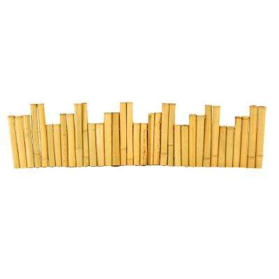 96 in. L x 1.25 in. W x 12 in. H Bamboo Natural Border Edging (2-Pieces/Case)