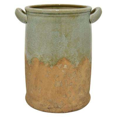 11.75 in. Green Ceramic Vase