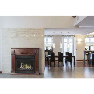 45 in. Vent-Free Dual Fuel Fireplace in Cherry