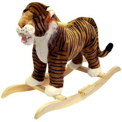 Plush Yellow Rocking Tiger
