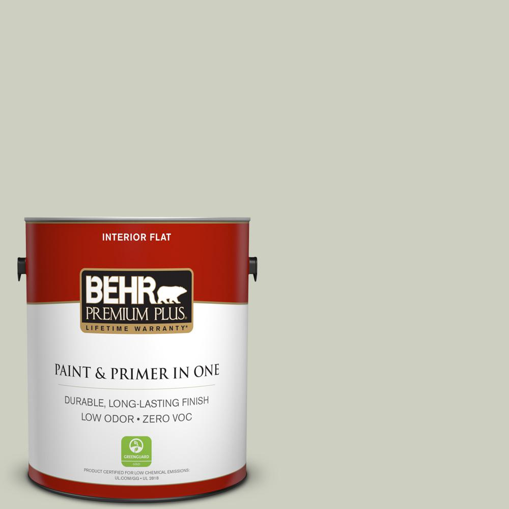 1 gal. #PPU10-11 Sliced Cucumber Zero VOC Flat Interior Paint