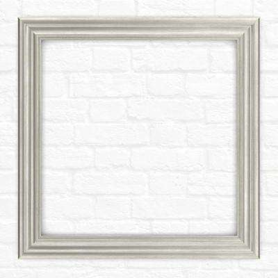 33 in. x 33 in. L2 Square Mirror Frame in Vintage Nickel