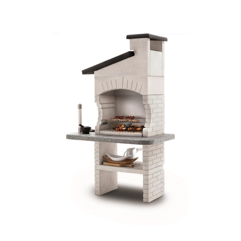 Palazzetti Guanaco 2 Charcoal or Wood Fire Outdoor Grill in White