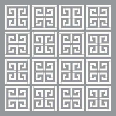 12 in. x 12 in. Greek Key Stencil