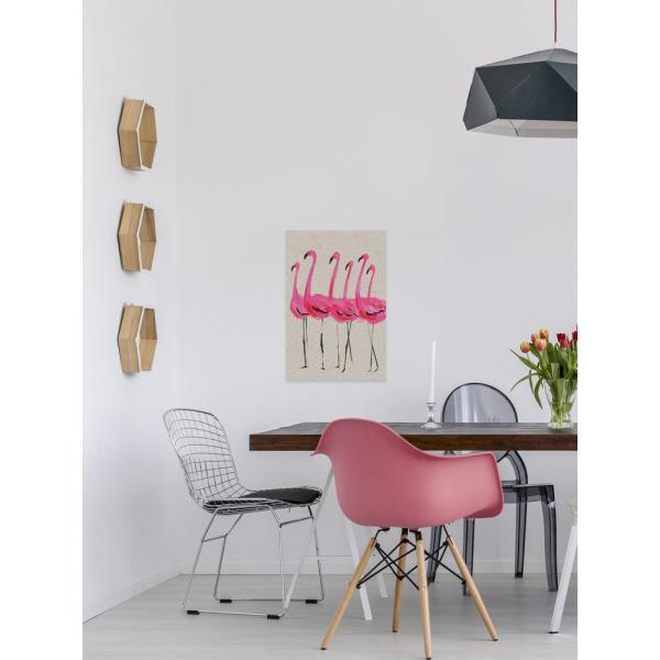 36 in. H x 24 in. W ''Flamants Roses'' by Marmont