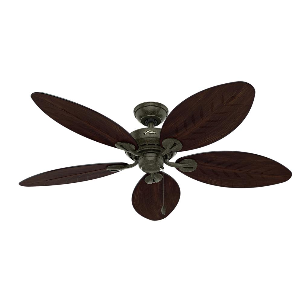 Hunter Bayview 54 in. Indoor/Outdoor Provencal Gold Ceiling Fan