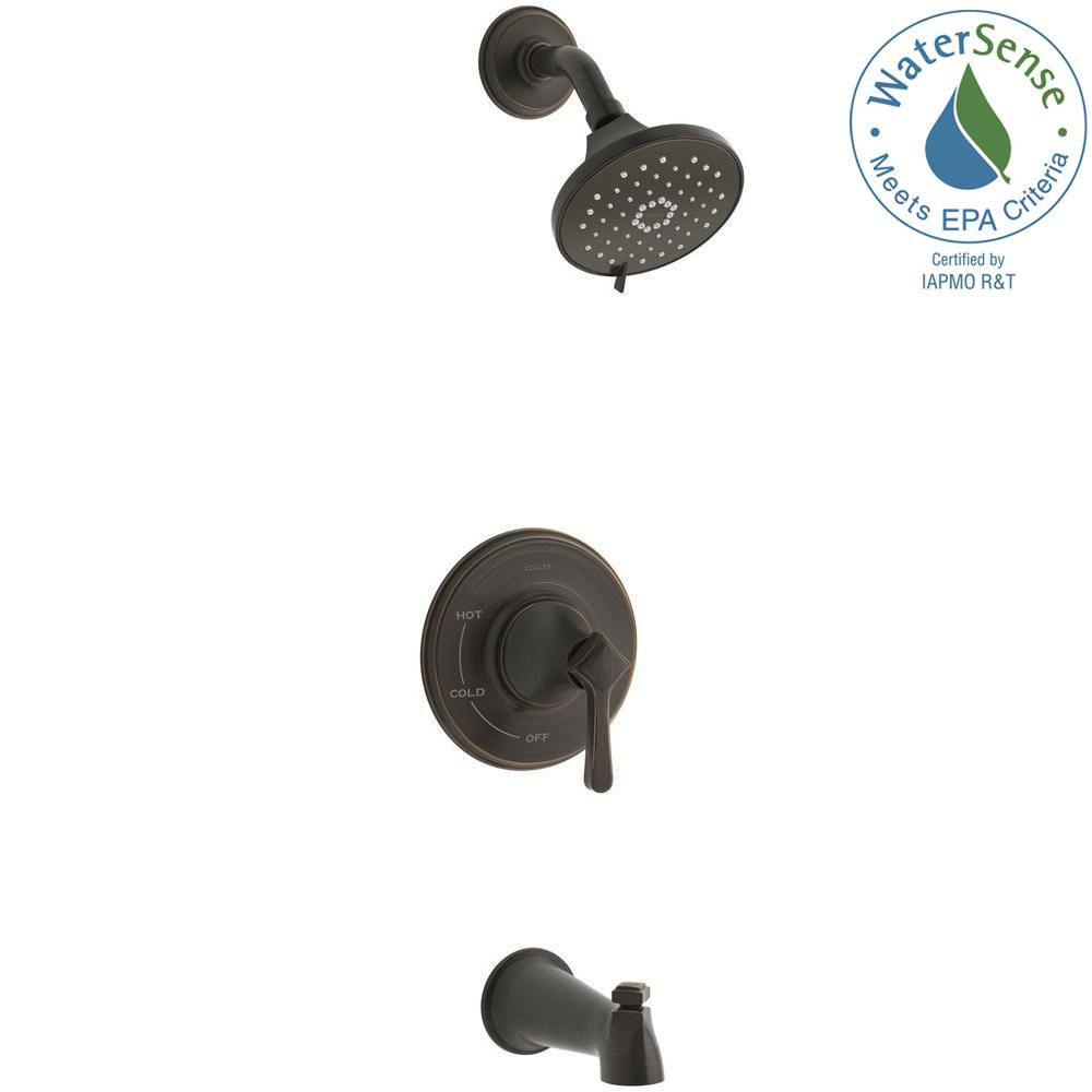 3 handle tub and shower faucet bronze. KOHLER Georgeson Single Handle 3 Spray Tub and Shower Faucet in Oil Rubbed  Bronze