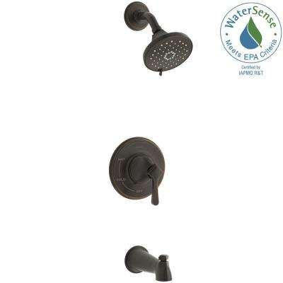 Georgeson Single-Handle 3-Spray Tub and Shower Faucet in Oil Rubbed Bronze (Valve Included)