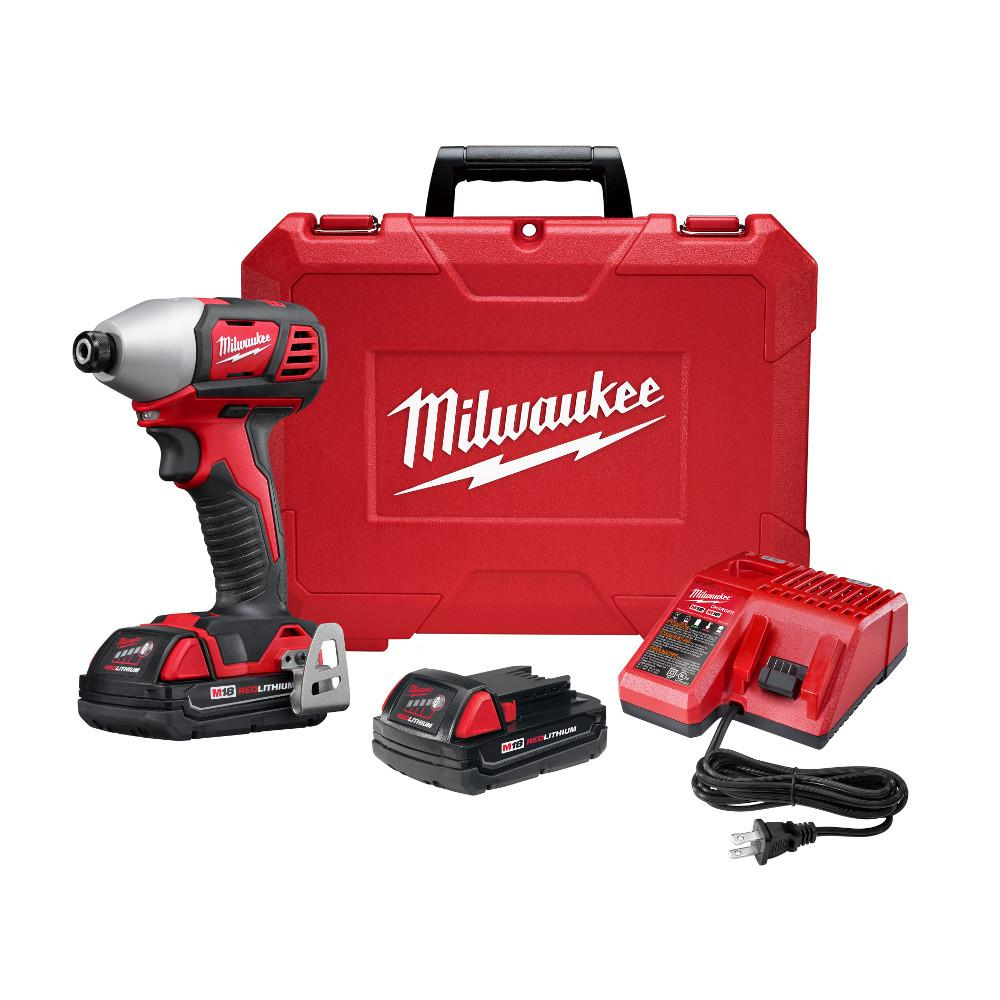 M18 18-Volt Lithium-Ion Cordless 1/4 in. 2-Speed Impact Driver Kit W/(2)