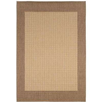 Checkered Field Natural 5 ft. x 8 ft. Area Rug
