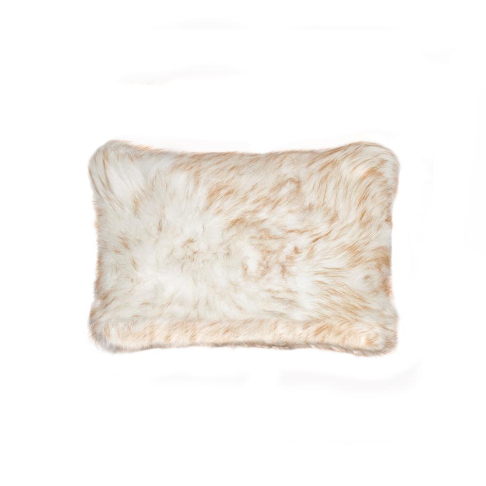 belton gradient tan 12 in x 20 in faux sheepskin decorative pillow