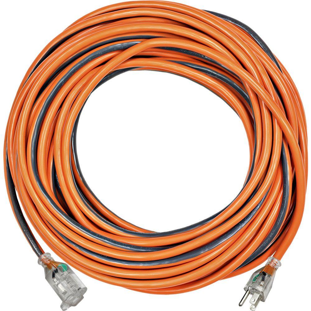 RIDGID 100 ft. 12/3 SJTW Extension Cord with Lighted Plug-757 ...