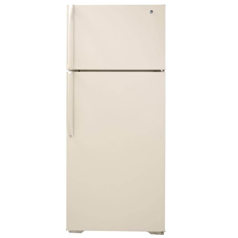 GE 18.1 cu. ft. Top Freezer Refrigerator in Bisque