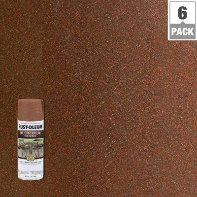 12 oz. MultiColor Textured Rustic Umber Protective Spray Paint (6-Pack)