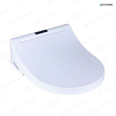 Electric Bidet Seat for Elongated Toilets With Anti-Microbial Coating in White
