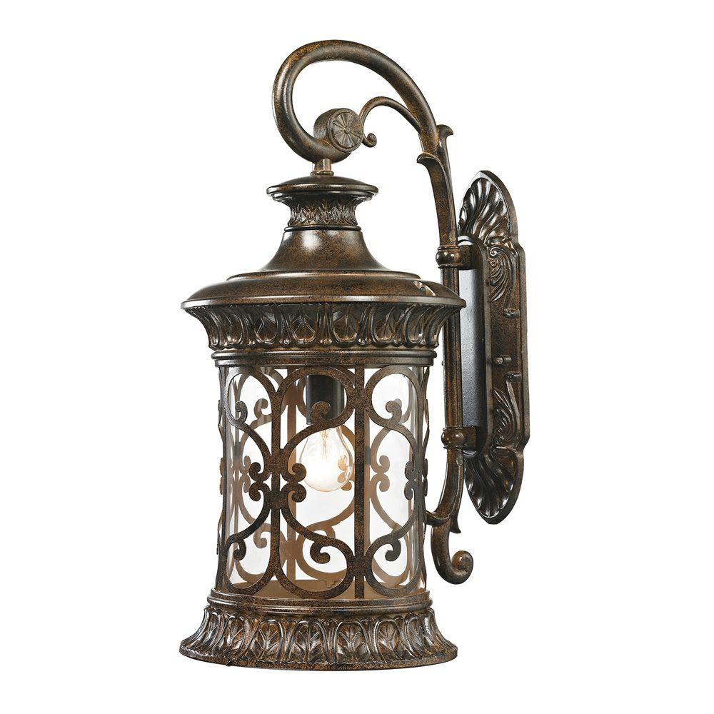 Marius Collection 1-Light Hazelnut Bronze Outdoor Sconce
