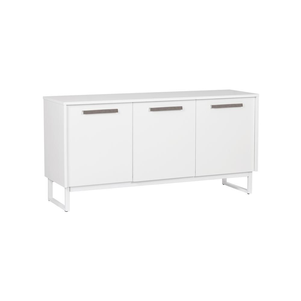 Alaska White 3 Door Storage Cabinet