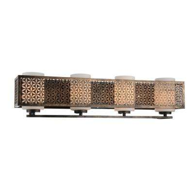 Pollett 4-Light Golden Bronze Sconce