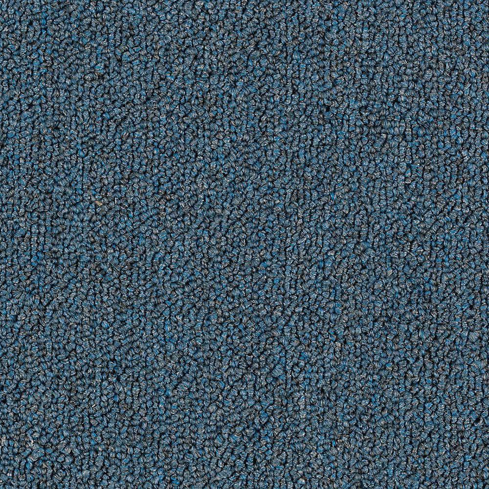Carpet Sample - Top Rail 26 - Color Blue Chip Loop 8 in. x 8 in.