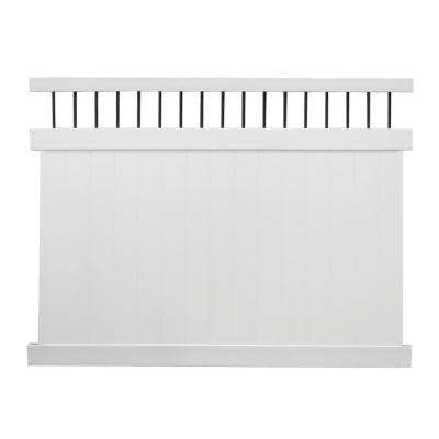 Bradford 7 ft. H x 8 ft. W White Vinyl Privacy Fence Panel Kit
