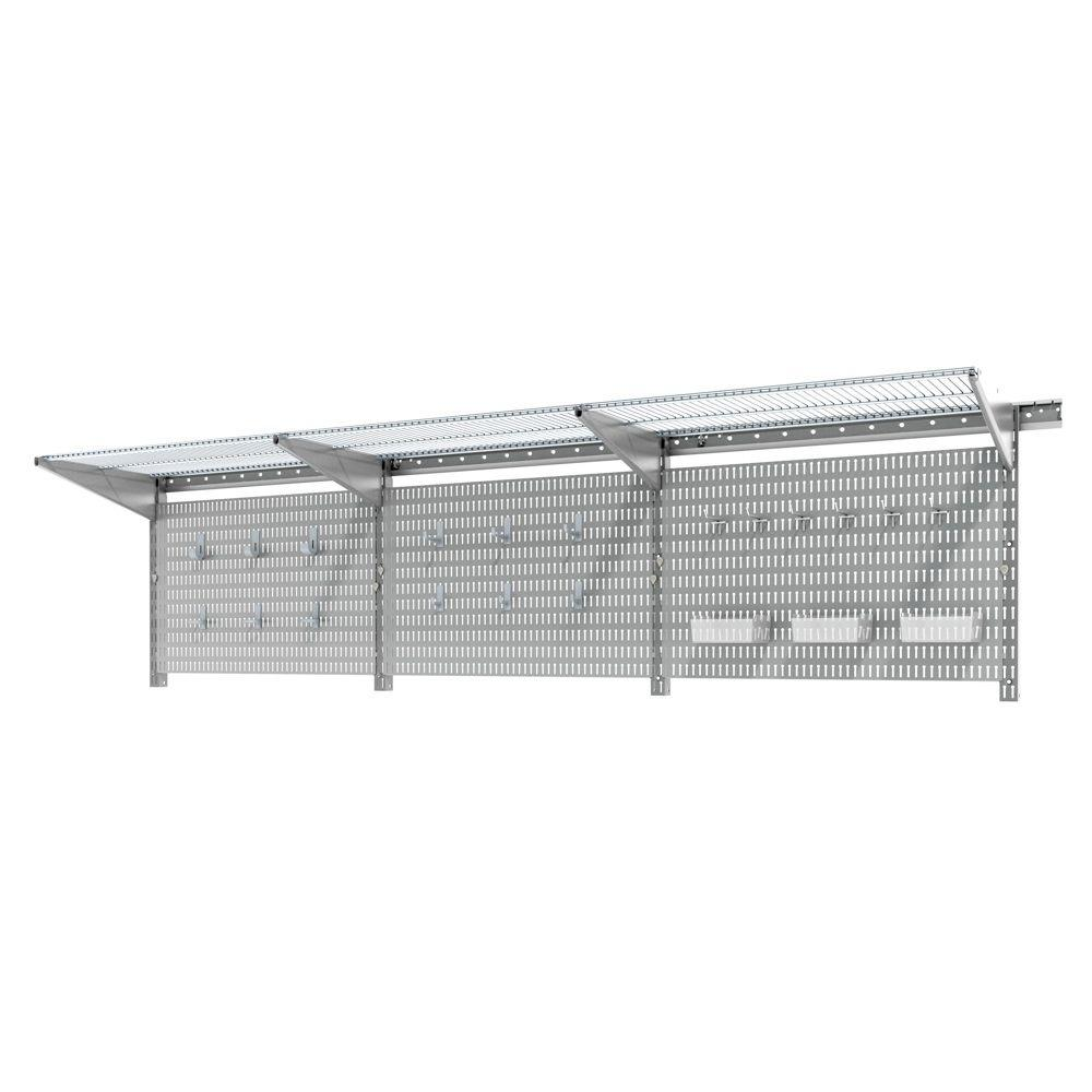 AllSpace 16 in. H x 25 in. W Pegboard Set with Utility Wall Organization Kit (38-Piece)