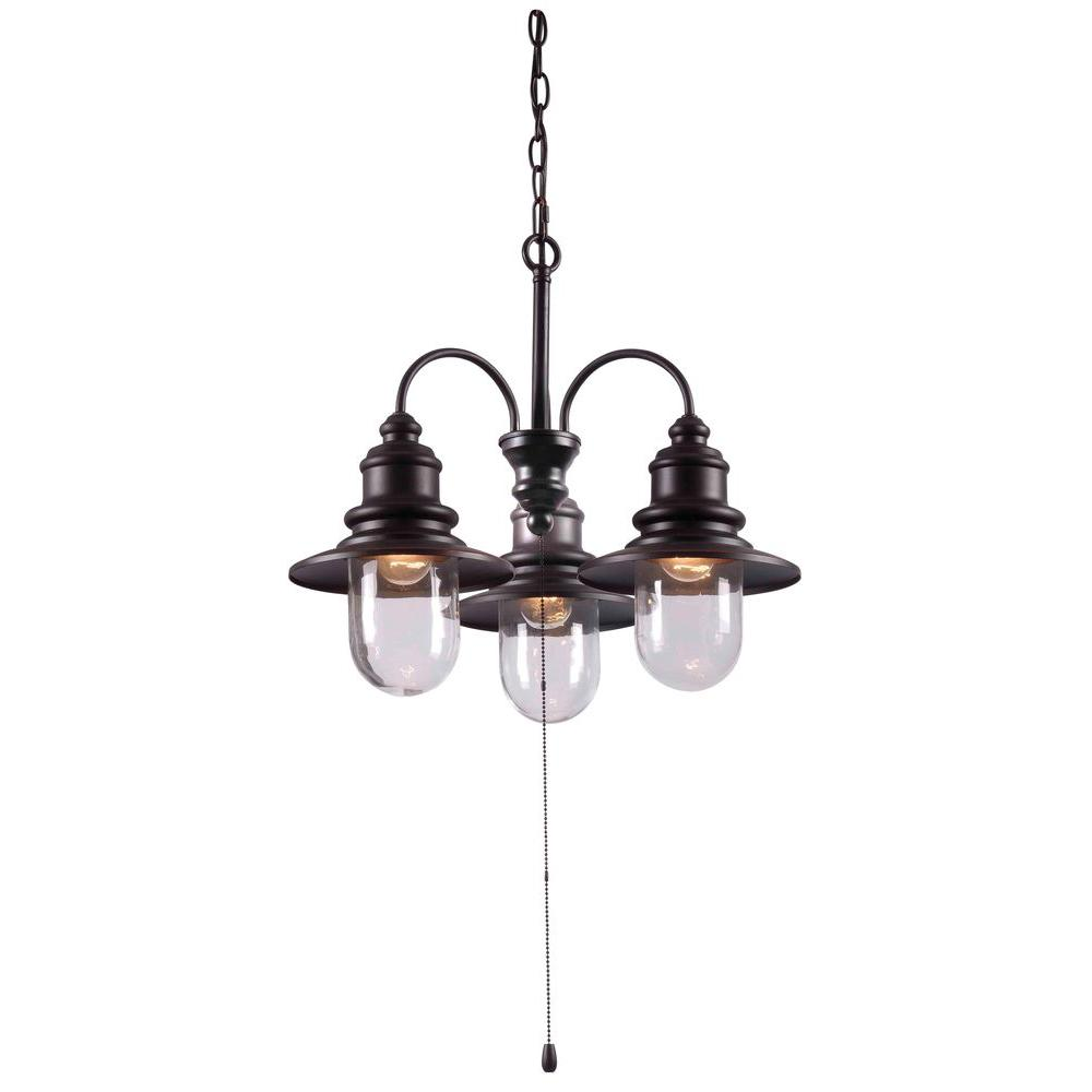Broadcast 3 light 21 in oil rubbed bronze chandelier 93033orb the oil rubbed bronze chandelier aloadofball Image collections