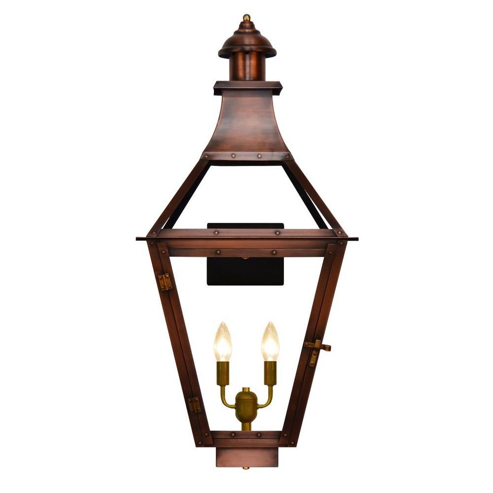 Filament Design Jaxon 2-Light Copper Outdoor Wall Lantern