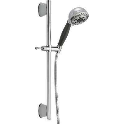 H2Okinetic 5-Spray Handheld Showerhead with Slide Bar and Pause in Chrome