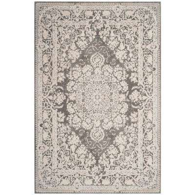 Reflection Dark Gray/Cream 5 ft. 1 in. x 7 ft. 6 in. Area Rug