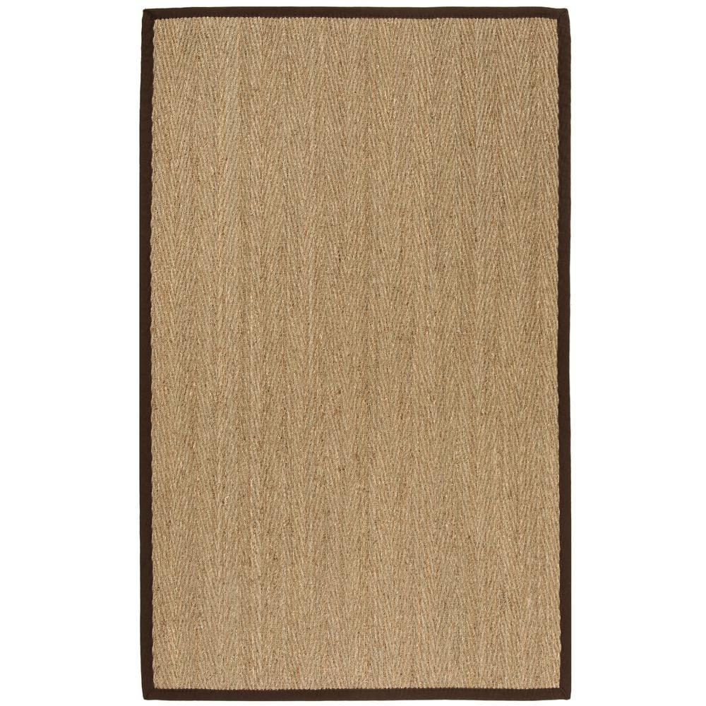 Natural Fiber Beige/Dark Brown 4 ft. x 6 ft. Indoor Area Rug