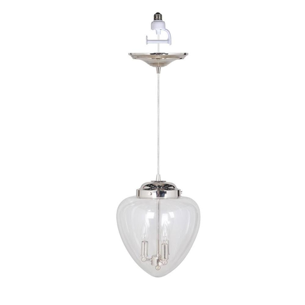 Brooks 3 -Light Brushed Nickel Pendant with Conversion Kit