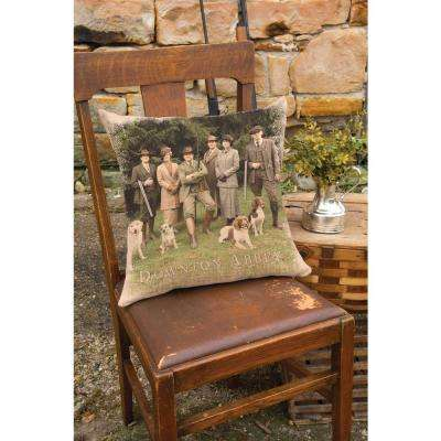 Downton Cast Natural Hunting Party Hunting Decorative Pillow