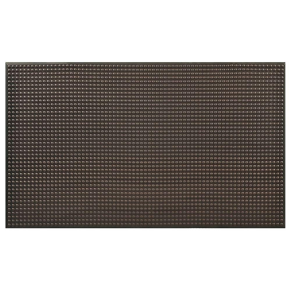 HomeTrax Designs Ergo Evolution Black 36 in. x 60 in. Anti-Fatigue Floor Mat