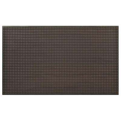 Ergo Evolution Black 36 in. x 60 in. Anti-Fatigue Floor Mat