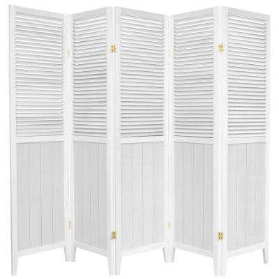 6 ft. White 5-Panel Room Divider