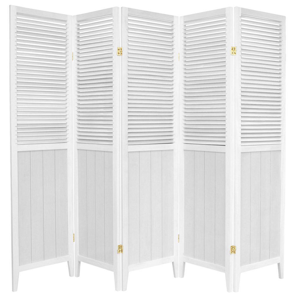 6 ft. White 5-Panel Room Divider