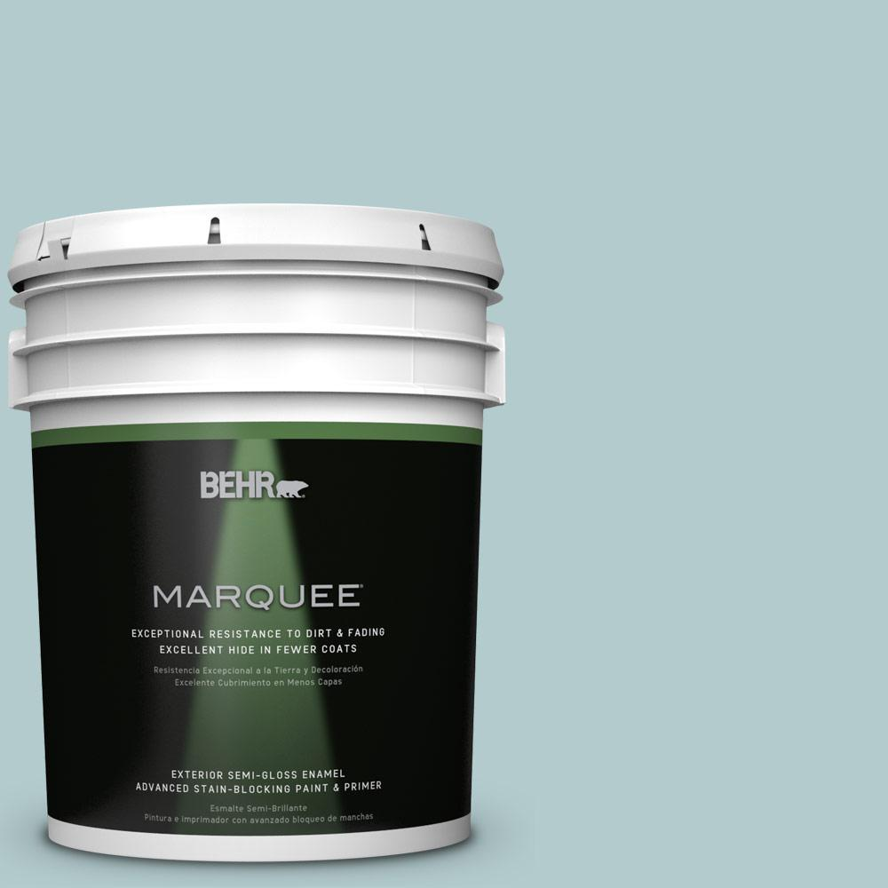 BEHR MARQUEE 5-gal. #PPU13-15 Clear Pond Semi-Gloss Enamel Exterior Paint