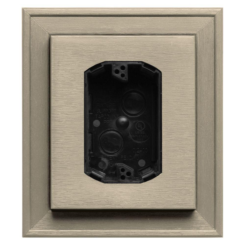 Builders Edge 7 in. x 8 in. #011 Sandalwood Electrical Mounting Block