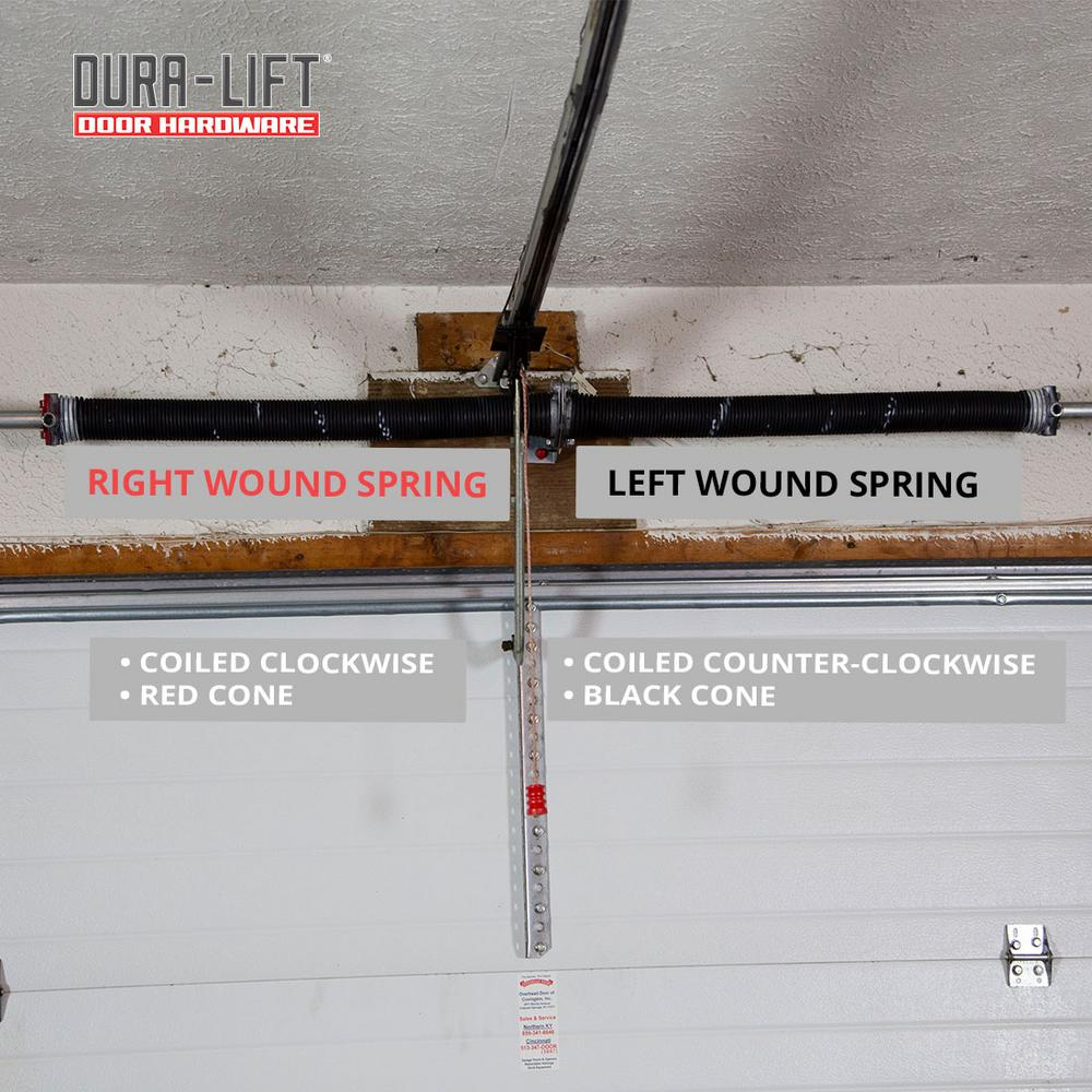 Dura Lift 0 225 In Wire X 2 In D X 31 In L Torsion Springs In Red Left And Right Wound Pair For Sectional Garage Doors Dltr231b The Home Depot