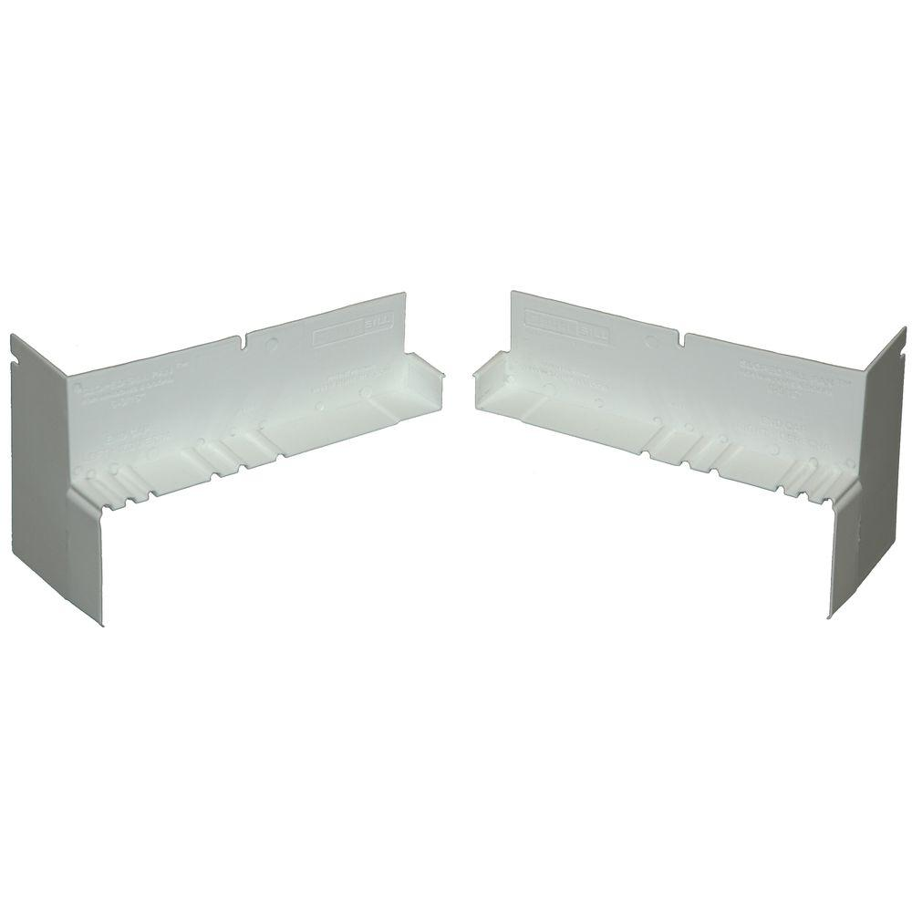 Pvc Corner Clip : Suresill in white sloped sill pan end caps pair