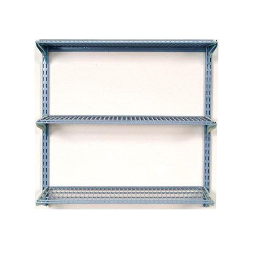 H Wall Mount Shelving Unit With 3