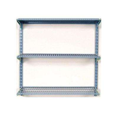 33 in. L x 31.5 in. H Wall Mount Shelving Unit with 3 Wire Shelves and Mounting Hardware