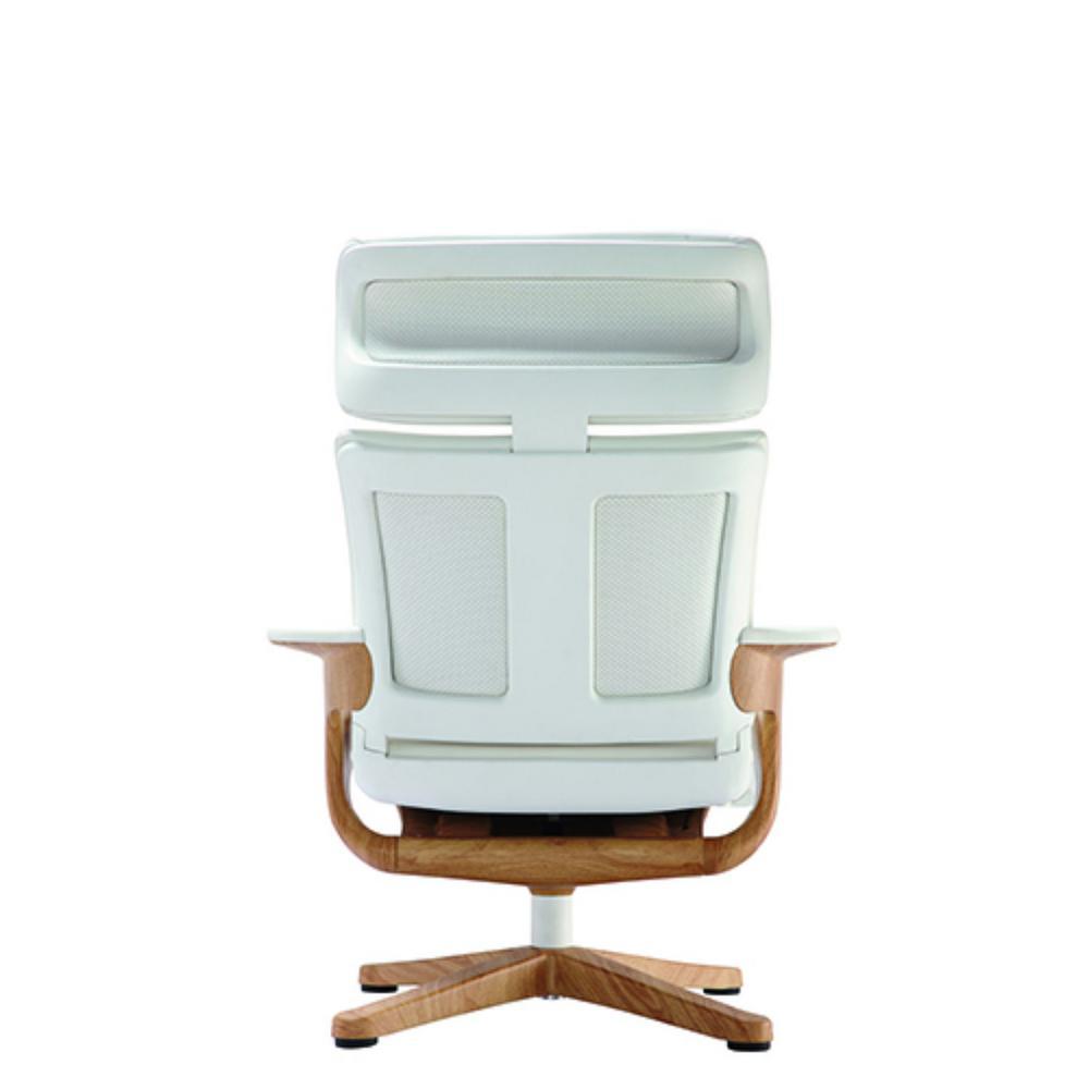 Zabrina White Leather Chair